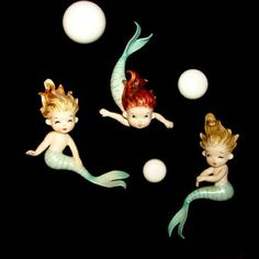 Mint Vintage Norcrest Mermaids Wall Plaque Set Bathroom Hanging | eBay