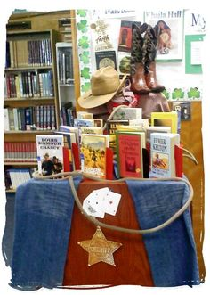 Wild West/Pioneers/Cowboys/Western Expansion History display idea.