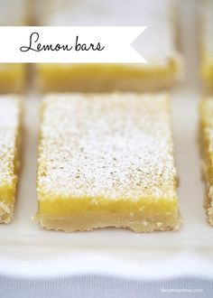 The perfect lemon bars recipe on iheartnaptime.net ... sweet, tart and chewy with a thick crust!