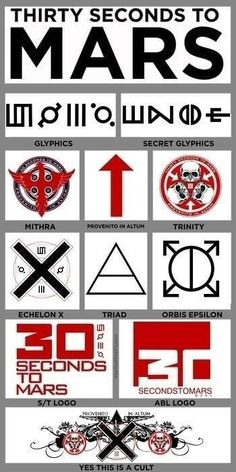 Orbis Epsilon | Do you know your MARS Symbols? 30 SECONDS TO MARS • A BEAUTIFUL LIE ...