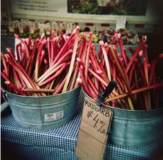 rhubarb.  She would always cook down with sugar, and we ate with bread & butter.