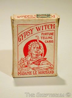 Gypsy Fortune Telling Cards      Early twentieth century, with folded instruction sheet copyright 1903. Published by Home Game Co., Chicago. The cards are printed in color (by color relief printing), bearing images and text combined with playing-card designs.