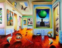 """Original Painting """"Apple on Your Head (Magritte) 2007"""" by (Fernando de Jesus Oliviera) Ferjo"""