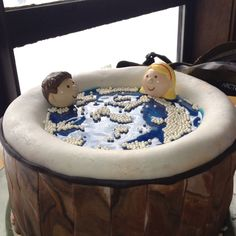 Jacuzzi cake anyone? Very fitting for a mountain birthday