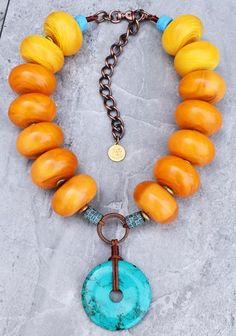 Soul Of Tibet Copal Amber & Turquoise Donut Pendant Statement Necklace - June 29 2019 at Sapphire Necklace, Diamond Solitaire Necklace, Diamond Pendant, Diamond Jewelry, Diamond Earrings, Pearl Pendant, Rose Necklace, Black Earrings, Amber Necklace