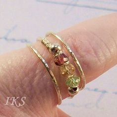 14k Gold Filled Mother's ring family ring by JewelryCustomDesigns, $50.97