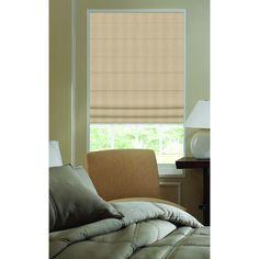 Beige Ashton Stripe 46.5-inch Plain Fold Roman Shades (46W x 42H Beige) (Polyester)