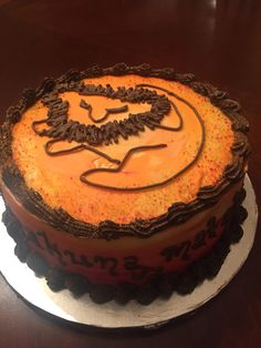 gâteau roi lion simple: - birthday cakes, etc - Timon Und Pumbaa, Simba Und Nala, Lion King Cupcakes, King Cake Baby, King Cakes, New Orleans King Cake, King Cake Recipe, Lion King Party, Lion King Birthday