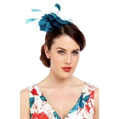 Sat on a satin-covered headband, our Feather Fascinator features a feather centrepiece in beautiful jade that co-ordinates seamlessly with our new season c… Feather Centerpieces, Hair Decorations, Fancy Hairstyles, Headpiece, Women Accessories, Fashion Outfits, Fascinators, Clothes For Women, Lady