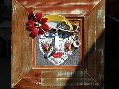Resultado de imagen de Mosaic dog by Solange Piffer Mosaic Stepping Stones, Stone Mosaic, Mosaic Glass, Stained Glass, Mosaic Art Projects, Mosaic Crafts, Mosaic Flower Pots, Mosaic Garden, Mosaic Wall Art