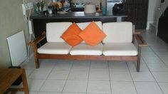 3 seater wooden couch Cape Town • olx.co.za Wooden Couch, Couches For Sale, Cape Town, Love Seat, Furniture, Home Decor, Wooden Sofa, Decoration Home, Room Decor