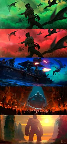 This Gorgeous Kong: Skull Island Concept Art Is Fit for a King. Link: http://io9.gizmodo.com/this-gorgeous-kong-skull-island-concept-art-is-fit-for-1793223756