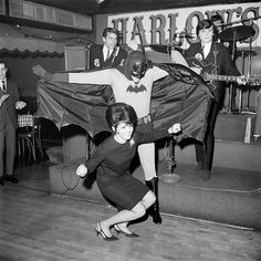 Party like a Batman! January 1966, Party dedicated to ABC premiere Batman television series.#Strange #bizarre #weirdo #crazy #wtf #exotic #batman #abc #robin #history #marvel #superhero #marvelous #electric #blackandwhite #party #mood #WildChild #fun #joy #freedom #art #rock #cartoon #tv