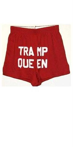 These are clearanced out at discountleotards, for the gymnast who just loves the trampoline!  I've never liked shorts with stuff written on them, and some words just should not be abbreviated....