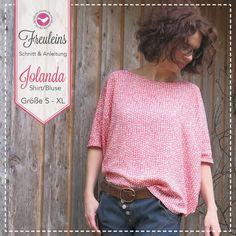 Schnittmuster und Nähanleitung für das Shirt Jolanda. Ganz schnell genäht, gelingt das Shirt auch mit wenig Näherfahrung.