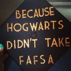 And this Harry Potter fan's. | 31 Graduation Caps That Absolutely Nailed It