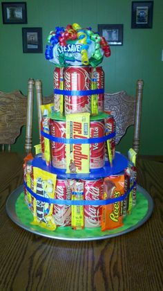 Pringles Soda Candy Junk Quot Cake Quot 16 Year Old Boy Birthday