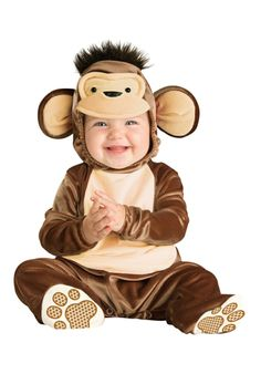 The Toddlers Mischievous Monkey Halloween Costume features a brown bodysuit with an attached monkey head hood and attached feet with paw Monkey Halloween Costume, Dino Costume, Monkey Costumes, Toddler Halloween Costumes, Cute Costumes, Baby Costumes, Costume Ideas, Halloween 2020, Halloween Ideas