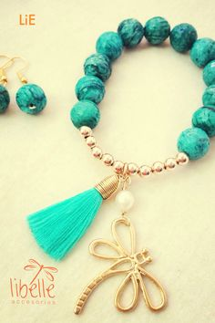 Wire Jewelry, Jewelry Crafts, Beaded Jewelry, Jewelery, Jewelry Bracelets, Tassel Bracelet, Stone Bracelet, Handmade Bracelets, Handmade Jewelry