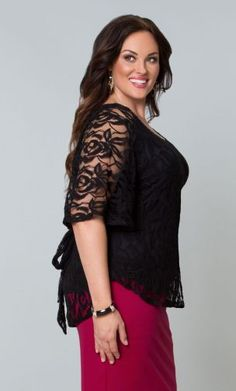 Ethereal Lace Blouse - Onyx