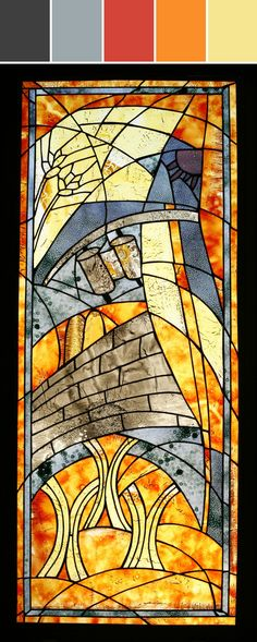 ❤ =^..^= ❤  Custom Stained Glass Vitrage Designed By Shakuff Custom Glass Lighting & Decor via Stylyze