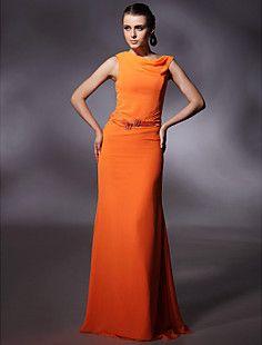 Chiffon Sheath/ Column Jewel Floor-length Evening/Prom Dress... – USD $ 79.19