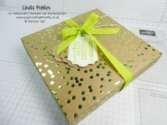 Linda Parker UK Independent Stampin' Up! Demonstrator from Hampshire @ Papercraft With Crafty : Christmas Countdown Project 10 - Envelope Punch Board Gift Box for a Box of Chocolate Matchmakers
