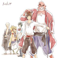 The Boy and the Beast #Kumatetsu #Kyuta #Kaede #Tatara #Hyakushubo (by 皐月のこ)