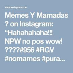 "Memes Y Mamadas 🔱 on Instagram: ""Hahahahaha!!! NPW no pos wow! 😂😂😂😂#956 #RGV #nomames #purasfallas #funnyshit #lmfao #lol #lmao #mexicansbelike #noposwow #purasmamadas…"""