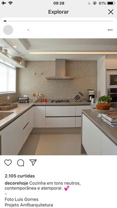 Kitchen Room Design, Kitchen Dinning, New Kitchen, Kitchen Decor, Kitchen Organization, Home Kitchens, Home Furnishings, House Plans, Decoration
