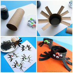 spider craft using toilet paper rolls