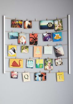 Twine After Time Photo Hanger Kit. Your decor charms with a rustic-chic aesthetic, so when it comes time to show off your memories, arrange each photo on this hanging set of twine and clips! Cheap Home Decor, Diy Home Decor, Room Decor, Hanging Photos, Photo Hanging, Diy Hanging, Idee Diy, Time Photo, Photo Displays