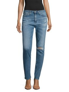 Sophia Distressed Skinny Jeans by AG Adriano Goldschmied at Gilt