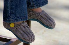 """Toddler Crochet Pattern for """"Jake"""" Loafers - Toddler Sizes 4-9. $5.50, via Etsy."""