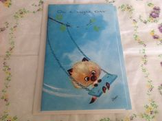 Vintage mixed box set of Siamese cat birthday cards number one