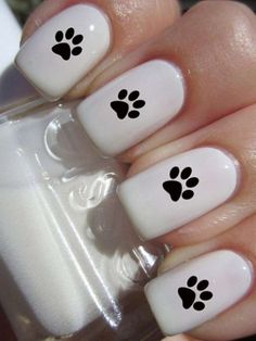 How to succeed in your manicure? - My Nails Dog Nail Art, Cute Nail Art, Nail Art Diy, Easy Nail Art, Cute Nails, Pretty Nails, My Nails, Acrylic Nail Designs, Nail Art Designs