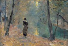 Partie am neuen See in Tiergarten, Lesser Ury 1910/20  Impressionism
