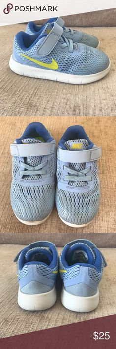 Baby blue toddler nikes Baby blue toddler nikes in EXCELLENT condition Nike Shoes Sneakers