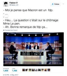 18 tweets qui nous ont bien fait marrer pendant que Macron et Le Pen s'entretuaient