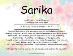 Sarika Name Meaning