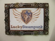 Frame Steampunk Picture Frame Watch Frame by LuckySteamPunk, $28.00