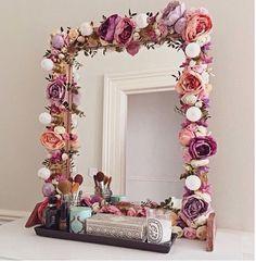 espelho - flor - decoração