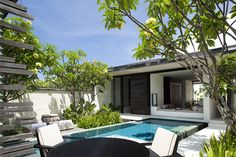 Romance Trip Ideas tree outdoor property condominium house plant home Resort estate building Villa green swimming pool vacation real estate mansion backyard cottage Courtyard apartment porch Garden Bali hotels Backyard Cottage, Porch Garden, Backyard Patio, Backyard Studio, Large Backyard, Courtyard Apartments, Alila Villas Uluwatu, Apartment Porch, Moderne Pools