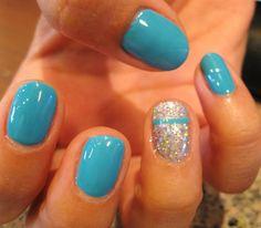 Aqua Gelish Manicure