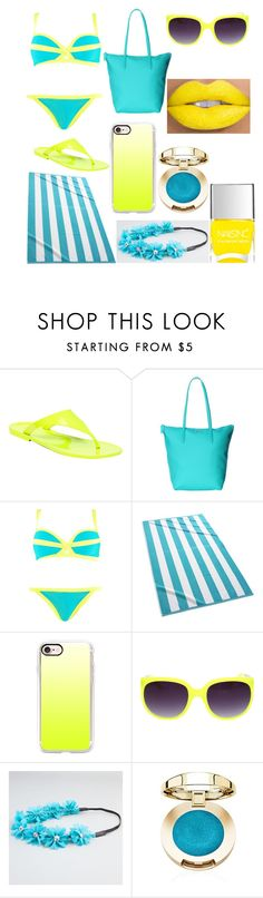 """""""Untitled #209"""" by lemondrop11 ❤ liked on Polyvore featuring BCBGeneration, Lacoste, Boohoo, Kassatex, Casetify, Full Tilt and Nails Inc."""