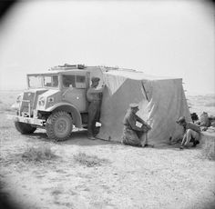 BRITISH ARMY NORTH AFRICA 1942 (E 11097)   A CMP Chevrolet truck in use by AFPU cameramen in the Western Desert, 28 April 1942.