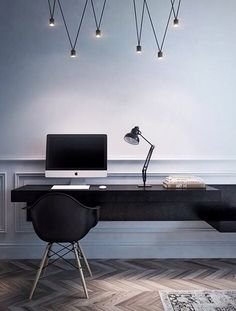 You won't mind getting work done with a home office like one of these. See these 20 inspiring photos for the best decorating and office design ideas for your home office, office furniture, home office ideas Interior Design Minimalist, Office Interior Design, Office Interiors, Modern Interior Design, Interior Design Inspiration, Interior Architecture, Design Ideas, Minimalist Office, Office Designs