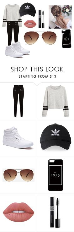 """Girls day out"" by odessamajes112 ❤ liked on Polyvore featuring Paige Denim, Vans, adidas, Ashley Stewart, Lime Crime, Christian Dior, fashionpolyvore112num2 and odessamajes112"