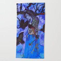 Ravenwitch - Shades of Blue Beach Towel