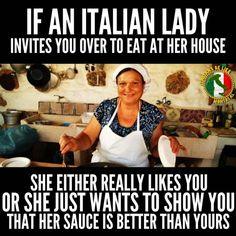 An Italian lady ...